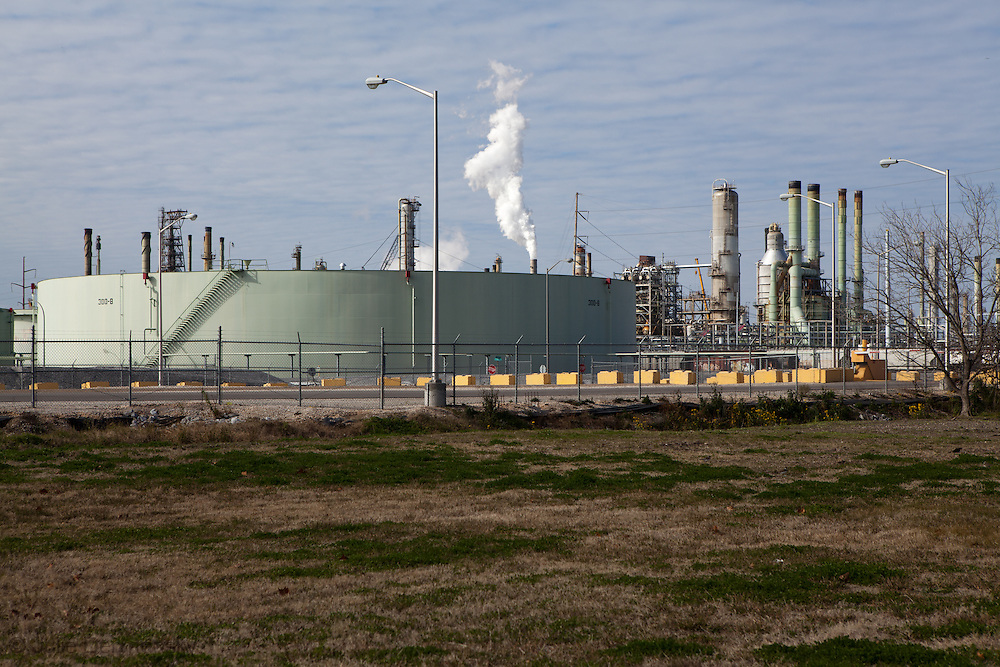 """Marathon refinery is located  across from  the Mississippi River in the stretch between Baton Rouge and New Orleans,  is part of a large concentration of chemical and oil companies that was formerly referred to as the """"Petrochemical Corridor,"""" but now is know as """"Cancer Alley.""""  Many cases of cancer have occurred  in communities on both sides of the river though the Louisiana Tumor Registry claims the numbers are not higher then the national average. The record high levels of the Mississippi River in the spring of 2011 brought on by what some scientists classify as climate change,  threaten the environment with the potential flooding of industrial complexes and nuclear facilities along the river."""