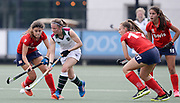 Surbiton's Rebecca Middleton on the attack against SPV Complutense during their opening game of the EHCC 2017 at Den Bosch HC, The Netherlands, 2nd June 2017