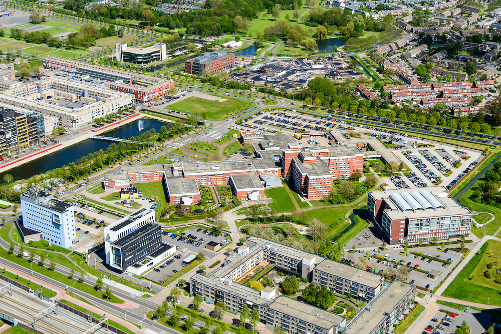Nederland, Flevoland, Lelystad, 08-09-2009. MC Zuiderzee (Zuiderzee Ziekenhuis), Lelystad.<br /> General hospital in new polder.<br /> luchtfoto (toeslag op standard tarieven);<br /> aerial photo (additional fee required);<br /> copyright foto/photo Siebe Swart