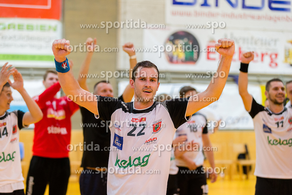 16.09.2016, Sporthalle Leoben Donawitz, Leoben, AUT, HLA, Union JURI Leoben vs SC kelag Ferlach, im Bild Dean David Pomorisac (Ferlach) // during the Handball League Austria match between Union JURI Leoben vs SC kelag Ferlach at the sport Hall, Leoben, Austria on 2016/09/16, EXPA Pictures © 2016, PhotoCredit: EXPA/ Dominik Angerer