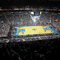 January 3, 2011; New Orleans, LA, USA; A general view during the third quarter of a game between the New Orleans Hornets and the Philadelphia 76ers at the New Orleans Arena.  Mandatory Credit: Derick E. Hingle