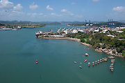 View from the Bridge of the Americas, Panama City, Panama