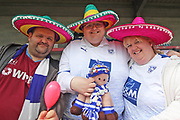 Tranmere Rovers fans in fancy dress for the EFL Sky Bet League 2 match between Crawley Town and Tranmere Rovers at The People's Pension Stadium, Crawley, England on 4 May 2019.