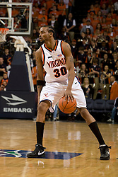 Virginia forward Adrian Joseph (30) in action against GT.  The Virginia Cavaliers men's basketball team fell to the Georgia Tech Yellow Jackets 92-82 in overtime at the John Paul Jones Arena in Charlottesville, VA on January 27, 2008.