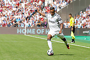 Juventus defender Alex Sandro (12) during the Pre-Season Betway Cup match between West Ham United and Juventus FC at the Stadium Queen Elizabeth Olympic Park, London, United Kingdom on 7 August 2016. Photo by Andy Walter.