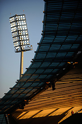 Floodlights in the The Royal Bafokeng Stadium in Rustenburg, Phokeng, South Africa. Venue for the FIFA Confederations Cup South Africa 2009 and the FIFA World Cup South Africa 2010