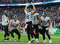 American Football - 2018 NFL Season (NFL International Series, London Games) - Tennessee Titans vs. Los Angeles Chargers<br /> <br /> Luke Stocker of the Titans (88) celebrates his late touchdown to give them hope, at Wembley Stadium.<br /> <br /> COLORSPORT/ANDREW COWIE