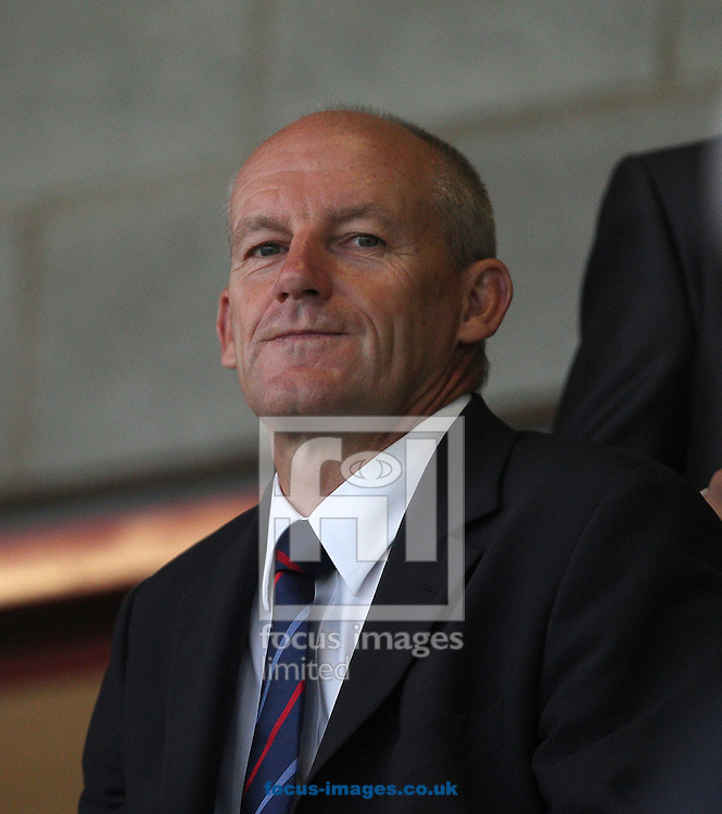 Picture by Paul Terry/Focus Images Ltd +44 7545 642257.28/08/2012.Steve Coppell, Director of Football at Crawley Town watches from the stands  during the Capital One Cup match at Broadfield Stadium, Crawley.