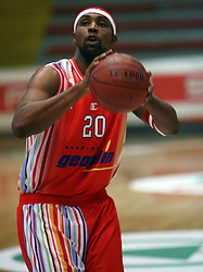 DeMarco Johnson of Geoplin Slovan at basketball game Geoplin Slovan - Helios Domzale in in the second match of quarter-final of Spar Cup, on February 7, 2008 in Ljubljana, Slovenia.   (Photo by Vid Ponikvar / Sportal Images).