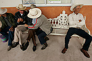 Zacatecas, MEX 060506  Old men gather at a local plaza to discuss weather and... (Essdras M Suarez/ Globe Staff)