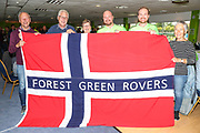 Norwegian FGR fans at The New Lawn, home of Forest Green Rovers during the EFL Sky Bet League 2 match between Forest Green Rovers and Port Vale at the New Lawn, Forest Green, United Kingdom on 8 September 2018.