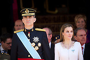 060914 Inauguration Of King Felipe VI and Queen Letizia and Princess Leonor and Princess Sofia