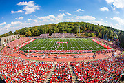 A general view of Clemens Stadium featuring a Division III record crowd of 17,327 during a game between the Saint John's Johnnies and St. Thomas Tommies on September 26, 2015 in Collegeville, Minnesota.