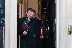 Downing Street, London, January 20th 2015. Ministers leave the weekly cabinet meeting at Downing Street. PICTURED: Jeremy Wright QC MP, <br /> Attorney General.