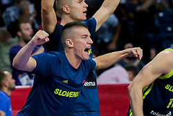Matic Rebec of Slovenia and Edo Muric of Slovenia react during basketball match between National Teams of Slovenia and Spain at Day 15 in Semifinal of the FIBA EuroBasket 2017 at Sinan Erdem Dome in Istanbul, Turkey on September 14, 2017. Photo by Vid Ponikvar / Sportida