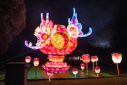 © Licensed to London News Pictures. 18/01/2017. London, UK. Lanterns on display at he Chiswick House Magic Lantern Festival. The Festival is a fusion of art, heritage and culture. Illuminating outdoor installations of beautifully sculpted lanterns taking various forms. Opening tomorrow and running until February 26th 2017 the theme for this year's festival is: 'Explore The Silk Road'. Visitors will discover life-sized and oversized lantern scenes, which represent and highlight this significant route of trade and culture from Europe to Ancient China.Photo credit: Peter Macdiarmid/LNP