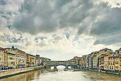January 15, 2016 - ''View of Arno river and Ponte Vecchio, Florence, Italy' (Credit Image: © Cultura via ZUMA Press)