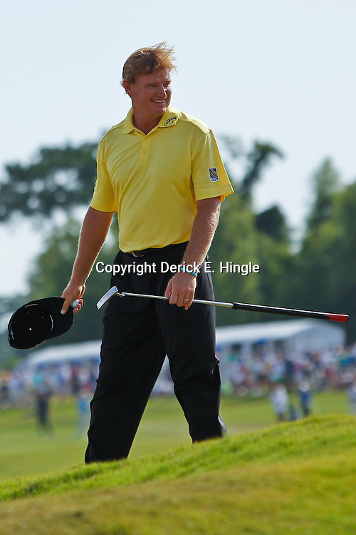 Apr 29, 2012; Avondale, LA, USA; Ernie Els on the 18th green during the final round of the Zurich Classic of New Orleans at TPC Louisiana. Mandatory Credit: Derick E. Hingle-US PRESSWIRE