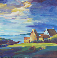 "Oil on Linen Canvas, 36"" x36"""