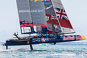 The Great Sound, Bermuda, 21st June 2017, Red Bull Youth America's Cup Finals. Race four.Team BDA (Bermuda).