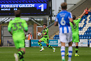 Forest Green Rovers Charlie Cooper(15) runs forward during the EFL Sky Bet League 2 match between Colchester United and Forest Green Rovers at the Weston Homes Community Stadium, Colchester, England on 26 August 2017. Photo by Shane Healey.