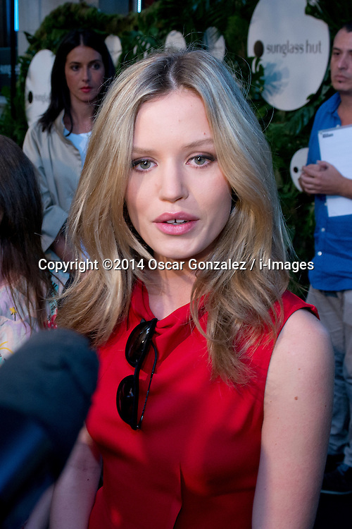 Image ©Licensed to i-Images Picture Agency. 24/06/2014. Madrid. Spain. Georgia May Jagger, Mick Jagger's daughter, attends the 'House of Sun' Pop-Up Boutique and Sunglases Hut promotional party and photocall in Madrid. SPAIN (MADRID). Picture by Oscar Gonzalez / i-Images<br /> <br /> SPAIN OUT
