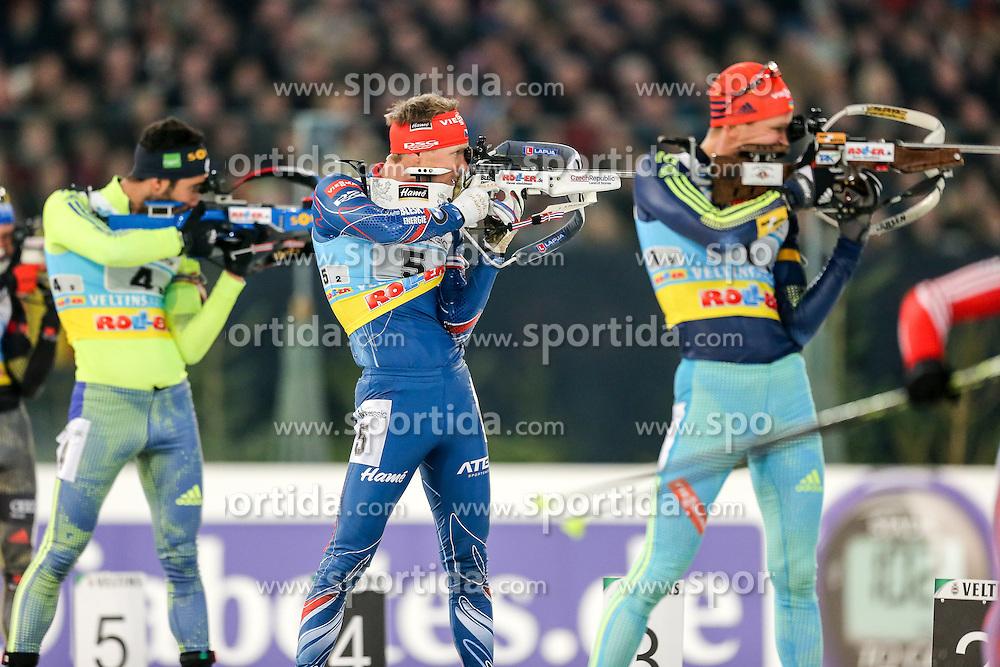 28.12.2015, Veltins Arena, Gelsenkirchen, GER, IBU Weltcup Biathlon, auf Schalke, im Bild Ondrej Moravec (Tschechien/CZ) // during the IBU Biathlon World Cup at Veltins Arena in Gelsenkirchen, Germany on 2015/12/28. EXPA Pictures &copy; 2015, PhotoCredit: EXPA/ Eibner-Pressefoto/ Kohring<br /> <br /> *****ATTENTION - OUT of GER*****