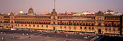 MEXICO, MEXICO CITY, ZOCALO City's main square and heart of the colonial city, with the National Palace