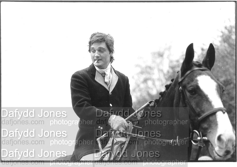 Eddie Sonersett, Beaufort hunt, approx 1990© Copyright Photograph by Dafydd Jones 66 Stockwell Park Rd. London SW9 0DA Tel 020 7733 0108 www.dafjones.com