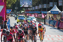The peloton starts the last lap on Stage 2 of the Madrid Challenge - a 100.3 km road race, starting and finishing in Madrid on September 16, 2018, in Spain. (Photo by Balint Hamvas/Velofocus.com)
