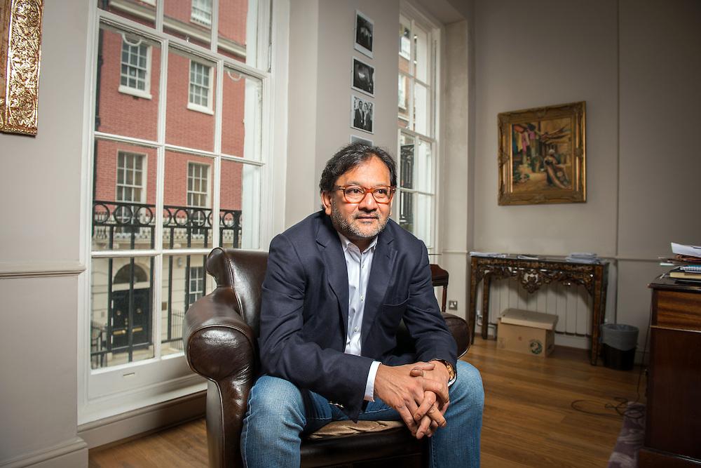 London-based businessman Saifee Durbar in his office in Mayfair, London, UK.