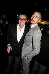 Left to right, BROOSK SAIB and HUGO TAYLOR at the Tatler Magazine Little Black Book party at Tramp, 40 Jermyn Street, London SW1 on 5th November 2008.