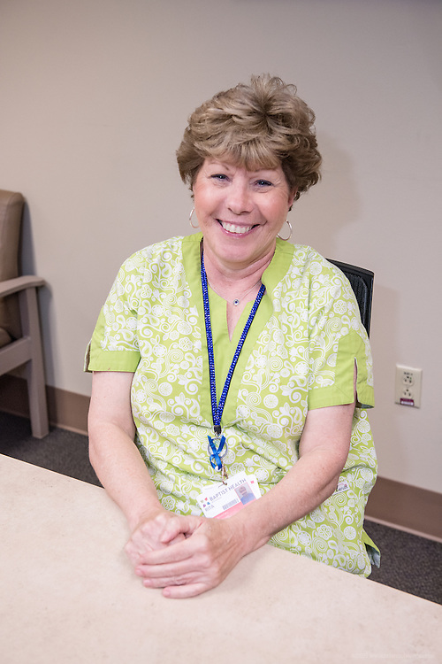 Same Day Surgery Unit Secretary Rita Denny, photographed Wednesday, May 20, 2015, at Baptist Health in Richmond, Ky. (Photo by Brian Bohannon/Videobred for Baptist Health)