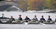 Cambridge, USA, Youth men' eights,   Eton College, approaching the  John Weeks footbridge during the  2009 Head of the Charles  Sunday  18/10/2009  [Mandatory Credit Peter Spurrier Intersport Images],.