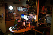 Transmition room of the Rainbow Warrior