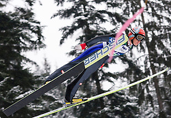 Daniela Iraschko of Austria during Normal Hill Individual Competition at FIS World Cup Ski jumping Ladies Ljubno 2012, on February 12, 2012 in Ljubno ob Savinji, Slovenia. (Photo By Grega Valancic / Sportida.com)