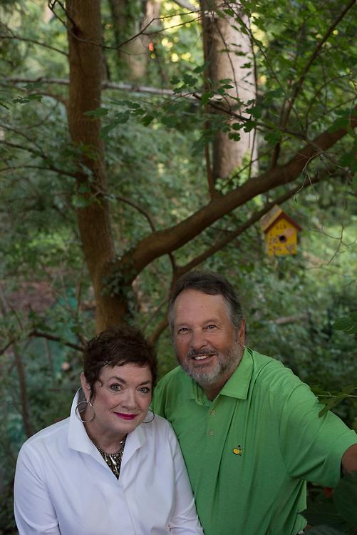 Retired KDKA reporter Mary Robb Jackson and her husband retired news photographer Michael Challik at their Mt Lebanon home.