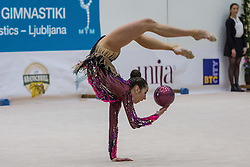 Halkina Katsiaryna of Belaurs competes during 29th MTM - International tournament in rhythmic gymnastics Ljubljana, on March 12, 2016 in gymnastics center Ljubljana, Ljubljana, Slovenia.  Photo by Grega Valancic / Sportida