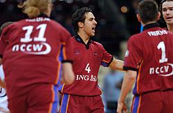 11-03-2005;VOLLEYBAL;FINAL4 TOP TEAMS CUP;ORTEC.NESSELANDE-OMNIWOLRD;ATHENE<br /> <br /> Ortec.Nesselande wint met 3-0 van Omniworld en speelt morgen de finale waarschijnlijk tegen Olympiacos - <br /> <br /> <br /> <br /> ©2005-WWW.FOTOHOOGENDOORN.NL