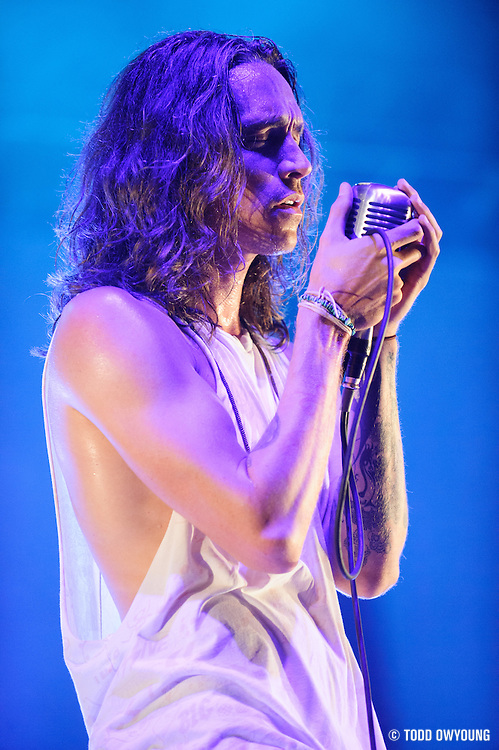 Incubus performing at Pointfest 30 on May 30, 2012 in St. Louis at Verizon Wireless Amphitheater.