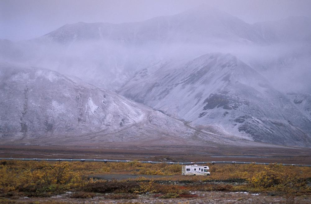 Mobile Home at Atigun Pass, Dalton Highway, Alaska, USA