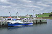 Fishing boats in Grand Étang Harbour, Cape Breton Island Nova Scotia