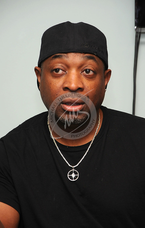 "Chuck D of Public Enemy speaks at a press conference at ""An Evening With Public Enemy"" at The GRAMMY Museum"