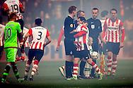 20-03-2016 VOETBAL:PSV-AJAX:EINDHOVEN<br /> Andres Guardado van PSV met zijn zoon op de schouders voor aanvang van de wedstrijd<br /> <br /> Foto: Geert van Erven