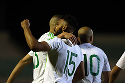 June 7, 2017 - Blida, Algiers, Algeria - Soudani Hillal El Arabi of Algeria celebrates a goal during Friendly Match Algeria v Guinea at the Mustapha Tchaker Stadium in Blida, Algeria, on 6 June 2017. (Credit Image: © Billal Bensalem/NurPhoto via ZUMA Press)