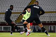 BOEKAREST - 19-08-15, Europa League, Astra GiurGiu - AZ, training, Stadionul Giulesti, AZ speler Vincent Janssen.