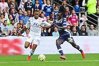 Clinton NJIE / Youssouf SABALY - 02.05.2015 - Lyon / Evian Thonon - 35eme journee de Ligue 1<br />