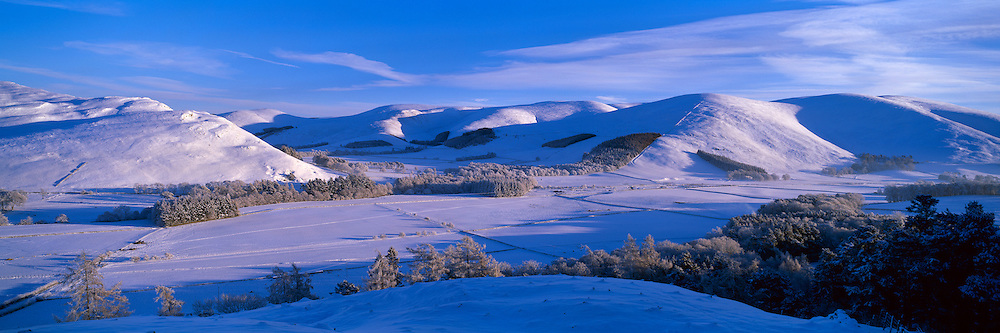 Manor Valley, Scottish Borders on a late winter afternoon