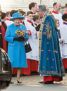 Queen Elizabeth Attends Commonwealth Service