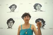 Venice Art Biennale 1999. Self-portrait by Spanish artist Esther Ferrer / Biennale Arte di Venezia 1999. Autoritratto dell'artista spagnola Esther Ferrer - © Marcello Mencarini